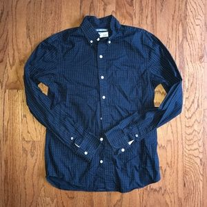 Old Navy Men's Polka Dot Button Down Shirt | sz S
